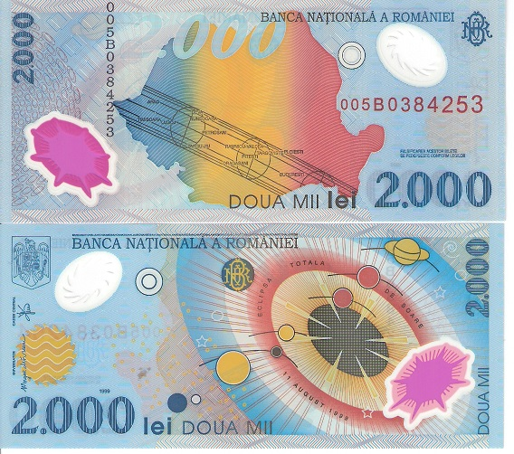 2000 Lei  UNC Banknote
