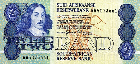 2 Rand  UNC Banknote