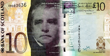 10 Pounds  XF/VF (see scan) Banknote