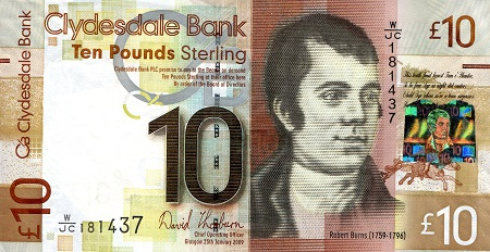 10 Pounds  XF (see scan) Banknote