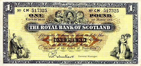 1 Pound  XF (see scan) Banknote