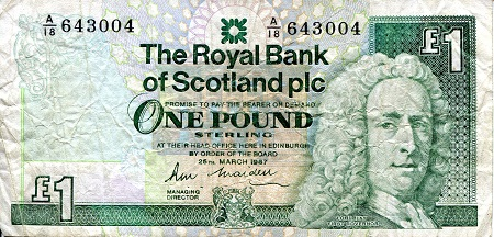 1 Pound  F (see large scan) Banknote