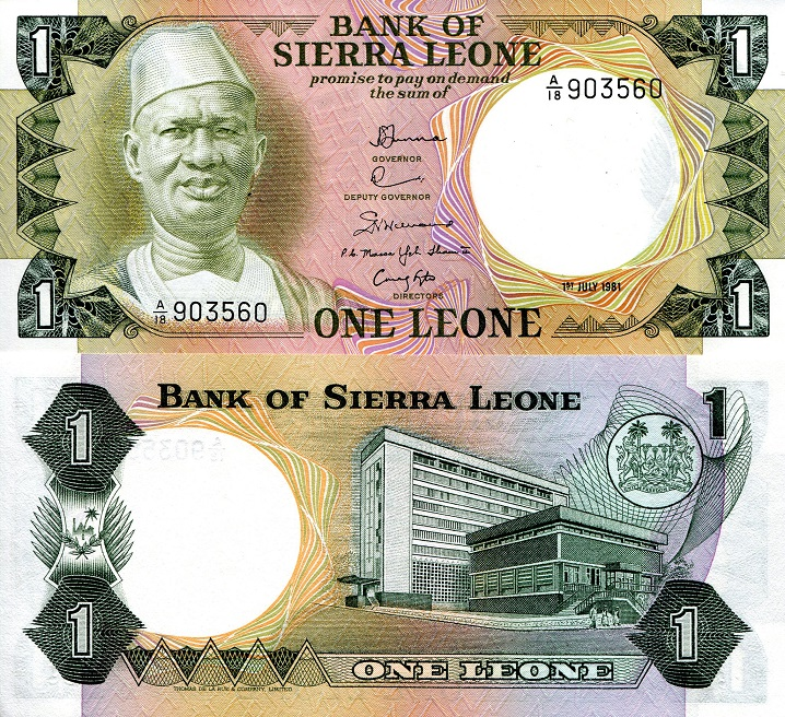 Roberts World Money Store and More - Sierra Leone Leones and