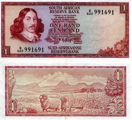 1 Rand  aUNC Banknote