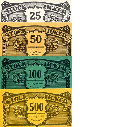 Stock Ticker  XF 4 Banknote Set