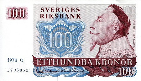 100 Kronor  XF (See Large Scan) Banknote