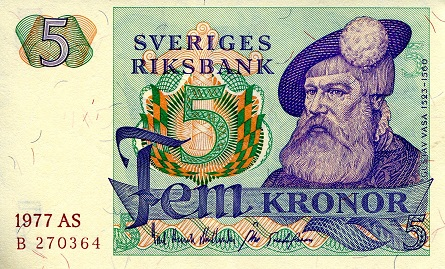 5 Kronor  aUNC (see scan) Banknote