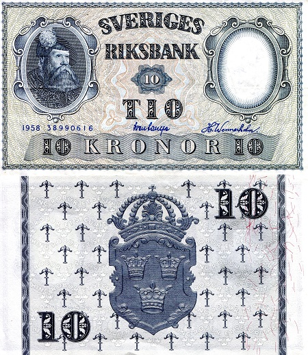 10 Kronor  aUNC/XF (see scan) Banknote