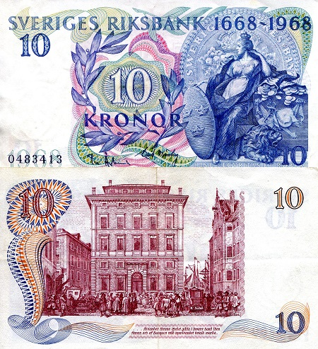 10 Kronor  VF/F (see scan) Banknote