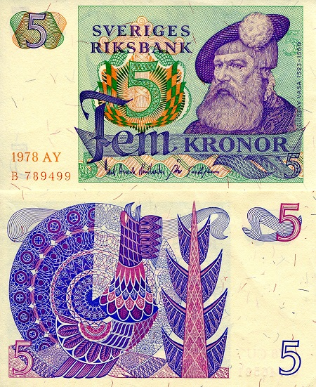5 Kronor  aUNC/XF (see scan) Banknote