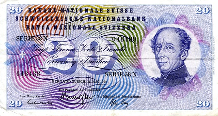 20 Francs  VF/F (see scan) Banknote