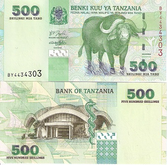 500 Shilling  UNC Banknote