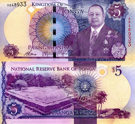 Image result for TOP (Pa'anga) banknotes
