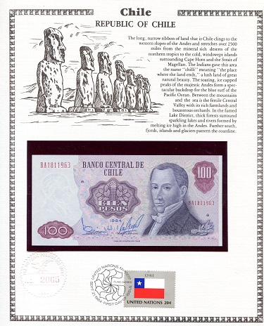 100 Pesos  N/A (notes looks to be UNC in holde Banknote