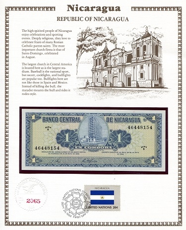 Cordoba  N/A (notes looks to be UNC in holde Banknote