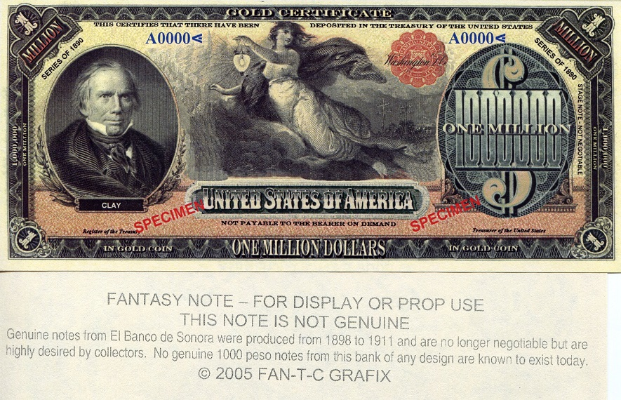 1 million dollars  UNC Banknote