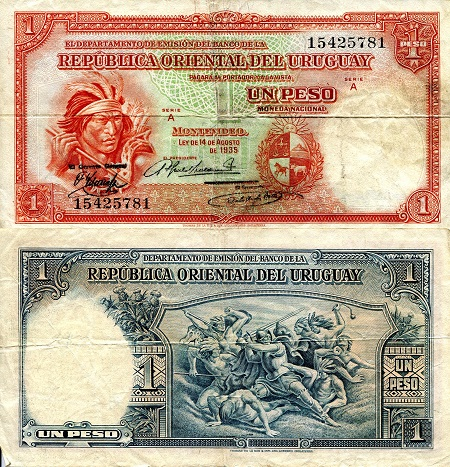 1 Peso  F (see large scan) Banknote
