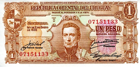 1 Pesos  XF/VF (see scan) Banknote