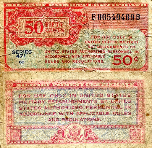 50 Cents  VG Banknote
