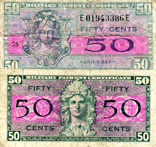 50 Cents  Fine Banknote