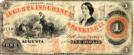 1 Dollar  F/VG (see scan) Banknote