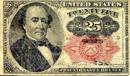 25 Cents  VG (see scan) Banknote