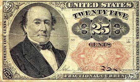 25 Cents  F (see scan) Banknote