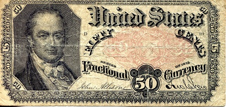 50 Cents  F/VG (see scan) Banknote