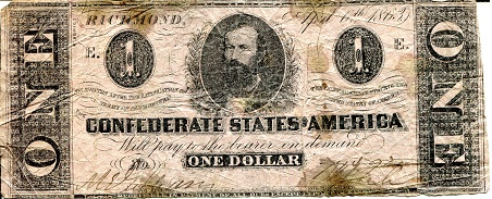 1 Dollar  G/Poor (tears into note) Banknote