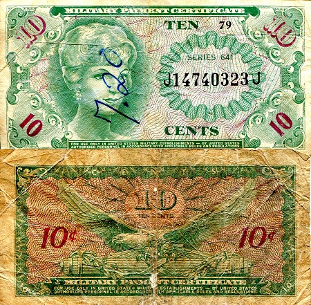 10 Cents  G (see large scan) Banknote