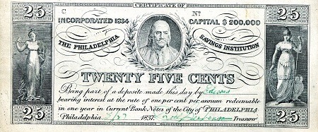 25 Cent  See Scan (ungraded) Banknote
