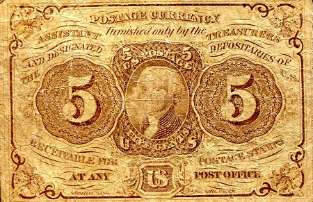 5 Cents  VG/G (THIN) Banknote