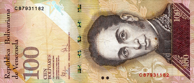 100 Bolivares  VF (see scan) Banknote