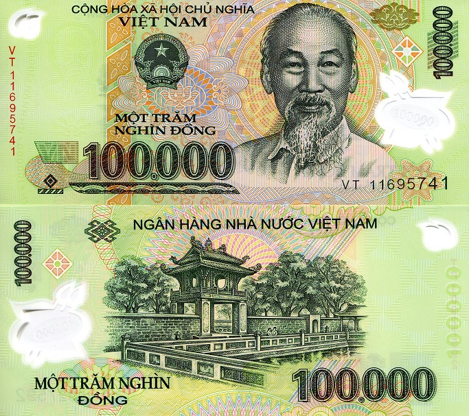 100,000 Dong  UNC Banknote