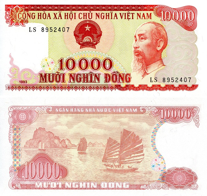 10,000 Dong  UNC Banknote