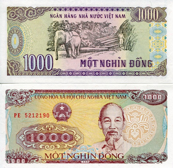 1000 Dong  UNC Banknote