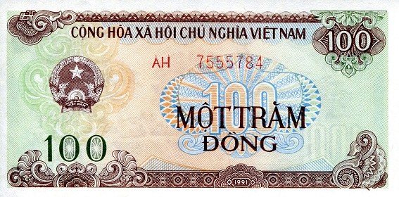 100 Dong  aUNC Banknote