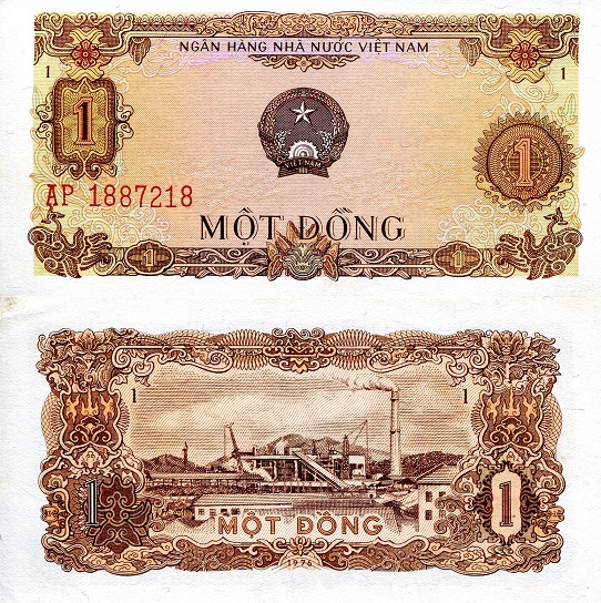 1 Dong  XF Banknote