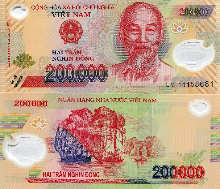 200000 Dong  UNC Banknote