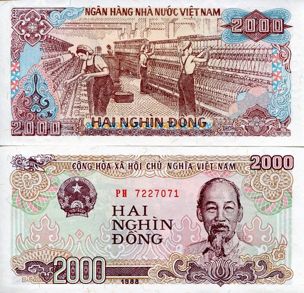 2000 Dong  UNC Banknote