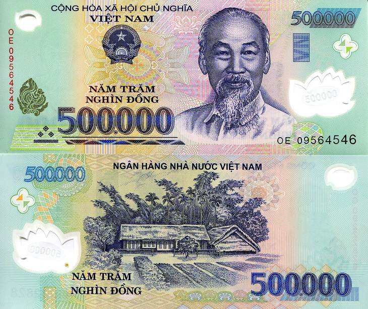 500,000 Dong  UNC Banknote