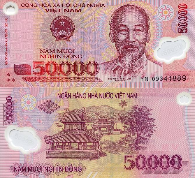 50000 Dong  UNC Banknote