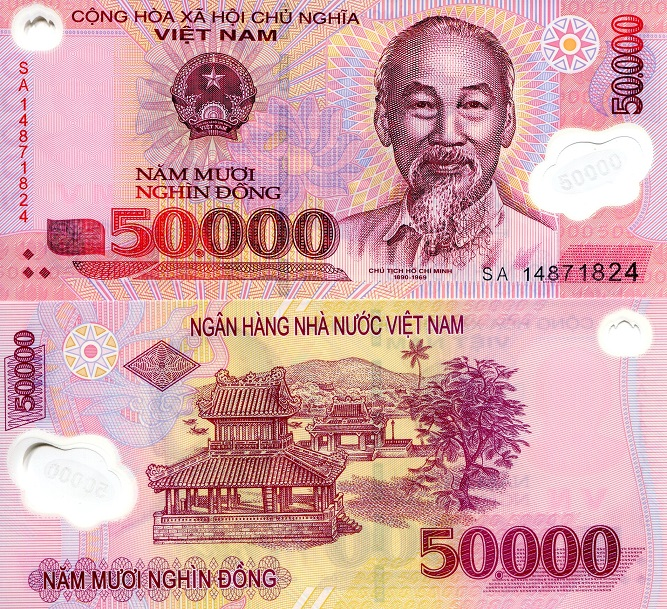 50,000 Dong  UNC Banknote