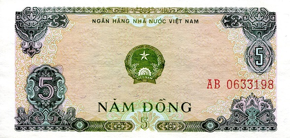 5 Dong  aUNC Banknote
