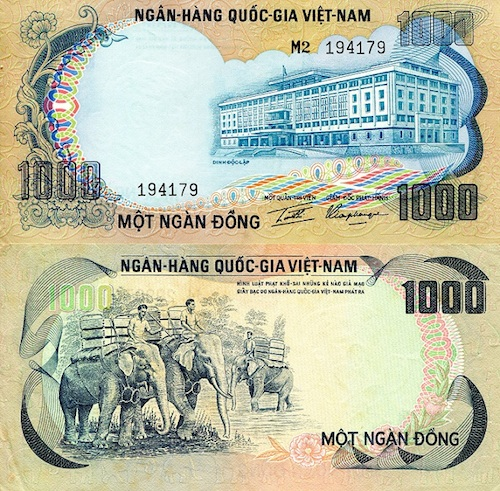 1,000 Dong  aUNC/XF (minor foxing) Banknote