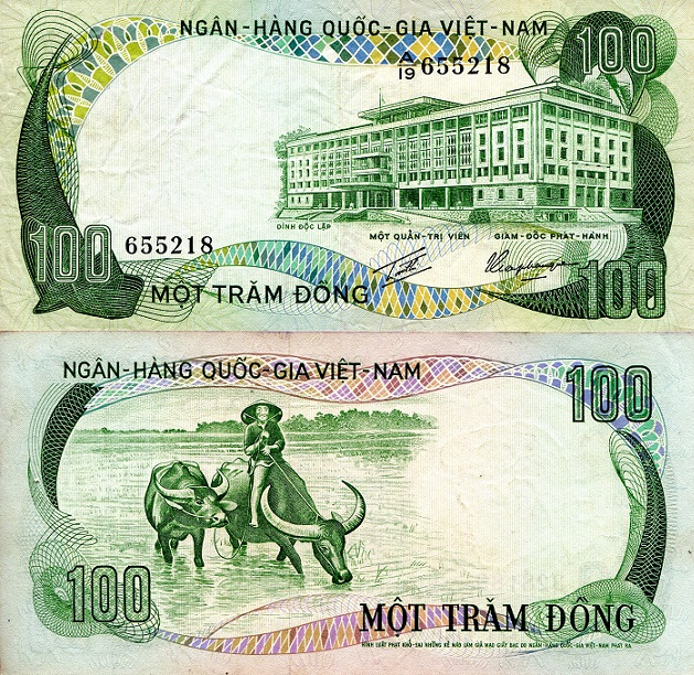 100 Dong  XF (minor foxing/corner issues) Banknote