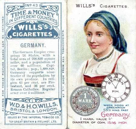 Wills Cigarette Card  Good Banknote