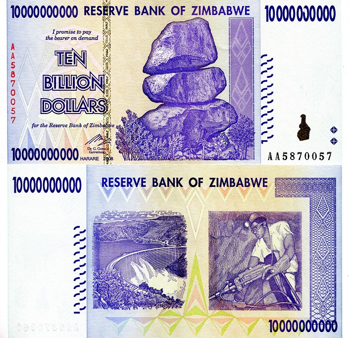 10 Billion Dollars  aUNC Mark on 6th zero top line) Banknote
