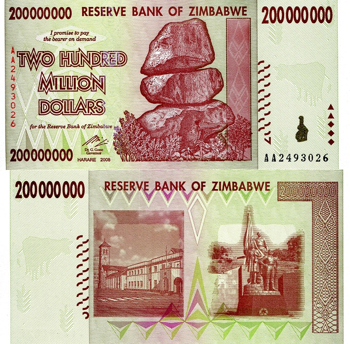 200,000,000 Dollars (200 Million)  UNC Banknote