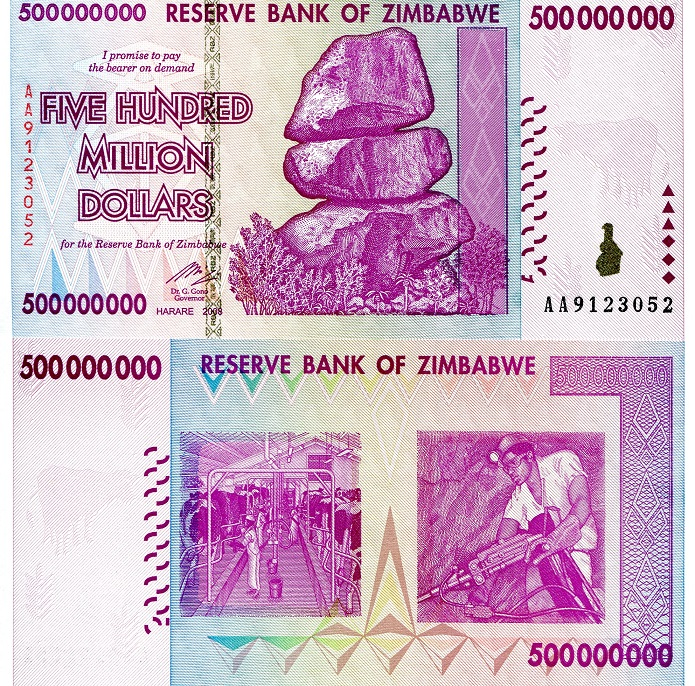500,000,000 Dollars (500 Million)  UNC Banknote